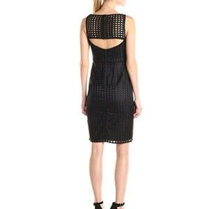 Adrianna Papell Dresses - Adrianna Papell Grid Lace Cocktail Dress